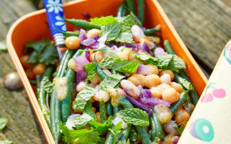 Boontjessalade met munt en koriander